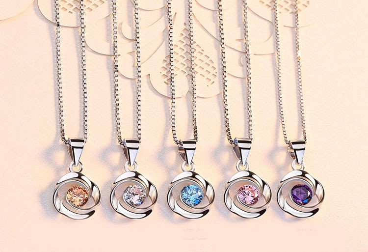 Romantic Rose  Silver Necklaces Perfect Gift For Women
