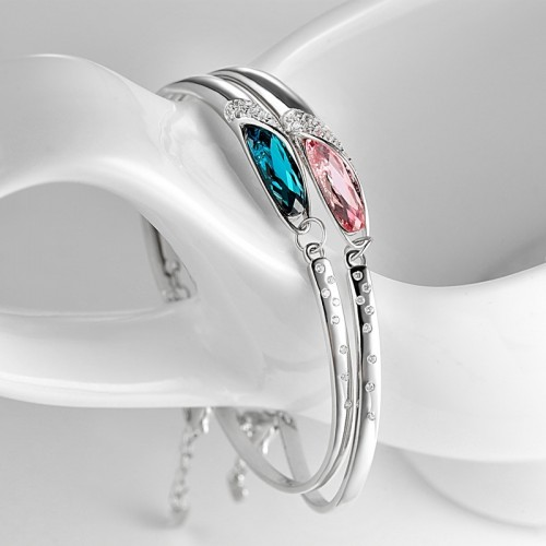 Korean Style Fashion With Crystal  990 Sterling Silver Bracelet Perfect Gift For Women