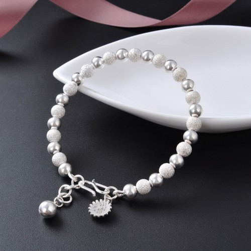 Latest Temperament Fashion Lucky Beads Fox Sterling Silver Bracelet Perfect Gift For Women