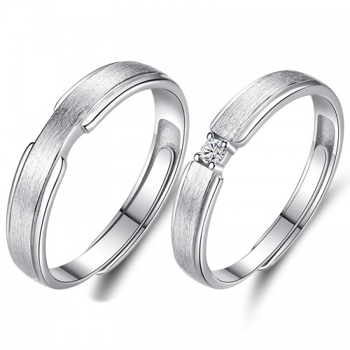 Classic Fashion Simple Sterling Silver Couple's Rings