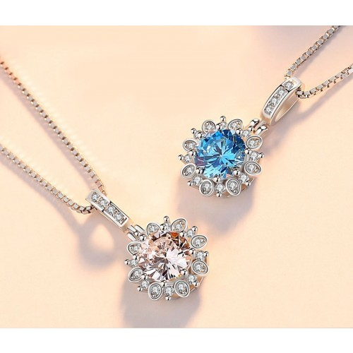 Perfect  Gift Romantic Daisy  Sliver Necklace Valentine's Day Gift for Women
