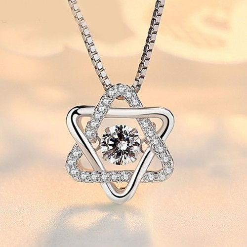 Fashion Six-pointed Star Silver Necklaces Perfect Gift For Women