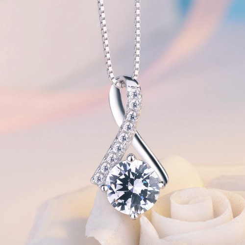 Simple Elegant Luxury Silver Necklaces Valentine's Day Gift for Women