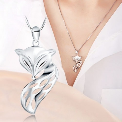 Graceful Fox Sterling  Silver Necklaces Perfect Birthday and Valentine's Day Gift