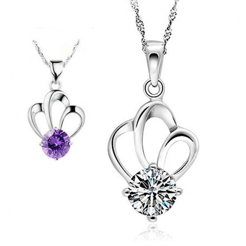Beautiful Crown Princess Dream Silver Necklaces Perfect Birthday and Valentine's Day Gift