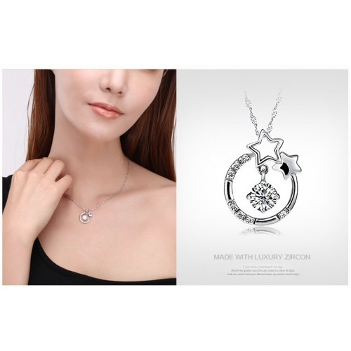 New Wishing Star Silver Necklaces Best Birthday and Valentine's Day Gift
