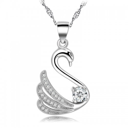 Elegant Graceful Swan Silver Necklaces Perfect Gift For Lady