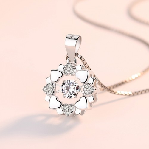 Beautiful Snowflake Sterling Silver Necklace Perfect Gift For Lady
