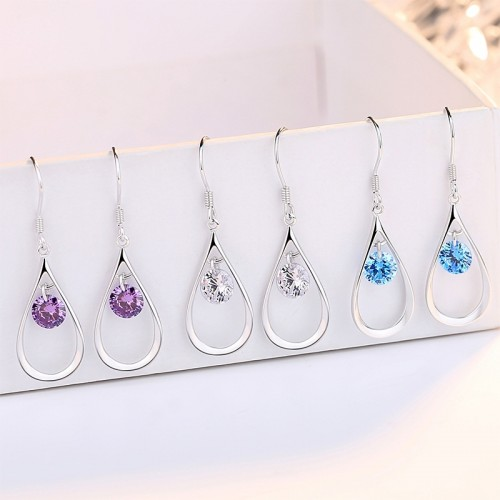 Best Valentine's Day Gift 925 Silver Water Drop Lady's Fashion Earrings