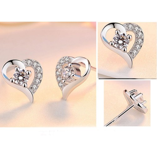 Exquisite Heart  Lucky Stud Earrings Perfect Gift For Women
