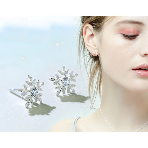 Western Style Snowflake Stud Earrings Perfect Gift For Women