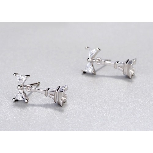 Fashion Simple Eiffel Tower Silver Clip Earrings Perfect Gift For Women
