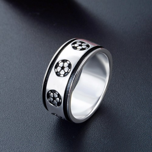 Fashion Popular Football  Rings For Men Valentine's Day Gift