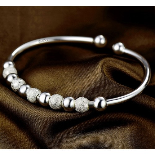 Simple Lucky Balls 990 Sterling Silver Bracelet Best Gift For Women