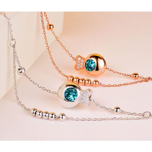 Elegant Romantic Fashion 925 Sterling Silver Anklet Perfect Gift For Women